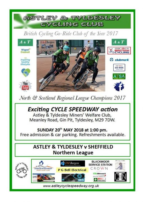 poster showing details of the cycle speedway event