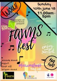 poser advertising Fawns Festival